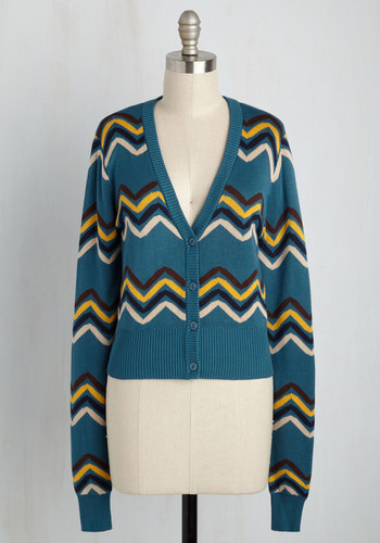 Ladies Colorful 1920s Sweaters and Cardigans History Undeniable Vibe Cardigan $49.99 AT vintagedancer.com
