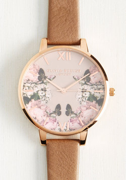Yours, Mine, and Hours Watch in Taupe - Big