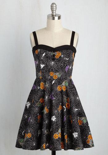 Vintage Retro Halloween Themed Clothing Trick-or-Treat Yourself Dress $69.99 AT vintagedancer.com