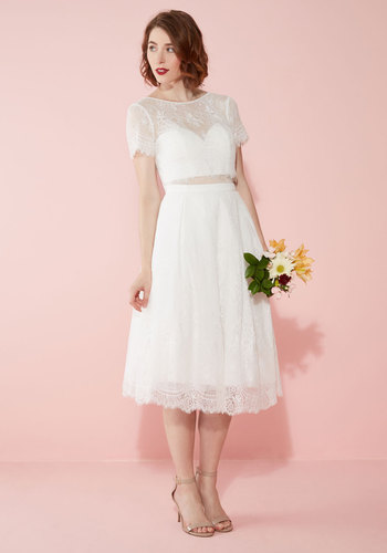 Vintage Inspired Wedding Dresses Bride and Joy Dress in White $325.00 AT vintagedancer.com