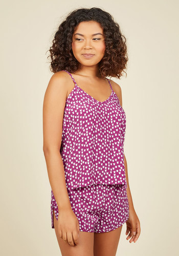 Along Doze Lines Sleep Top in Tulips - Pink, Floral, Print, Casual, Boudoir, Fall, Winter, Better, Exclusives, Woven