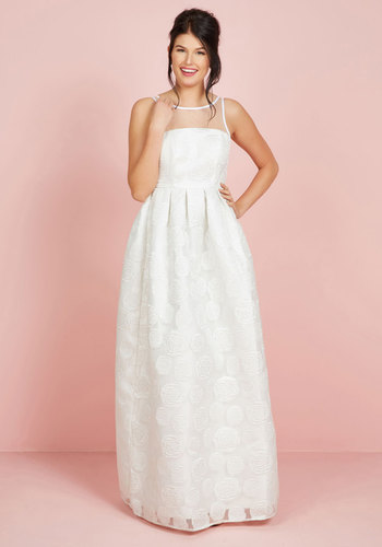 Vintage Inspired Wedding Dresses Where Theres Life Theres Elope Dress in Ivory $175.00 AT vintagedancer.com