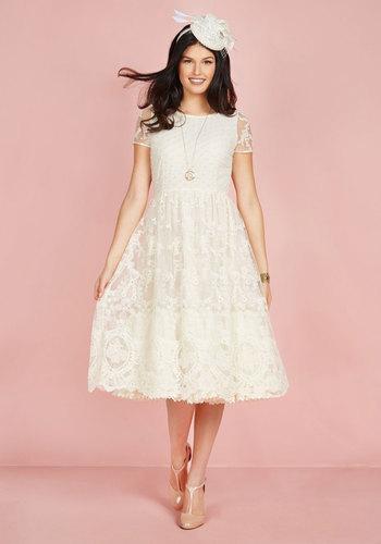Vintage Inspired Wedding Dresses Bliss Way Up Dress in Ivory $250.00 AT vintagedancer.com