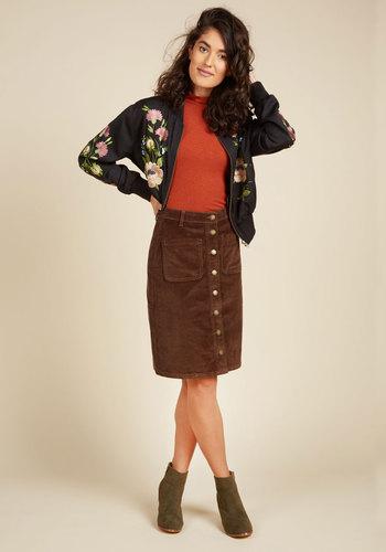 Fasten Sense Skirt in Cocoa $59.99 AT vintagedancer.com