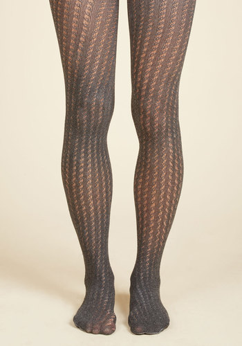 The Strong Silent Stripe Tights in Stone $14.99 AT vintagedancer.com