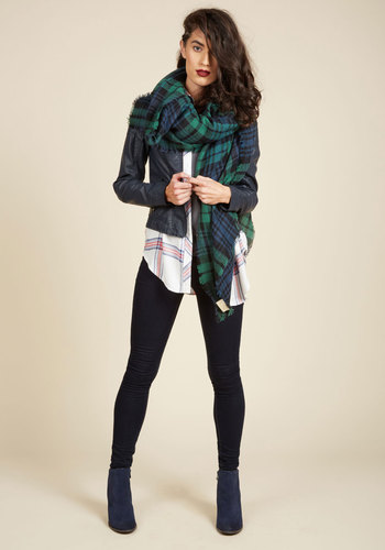 Loch and Key Scarf in Forest Plaid