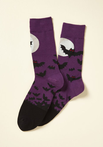 Vintage Retro Halloween Themed Clothing Fly the Good Flight Mens Socks $11.99 AT vintagedancer.com