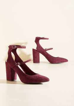 Astute Recruit Heel in Burgundy
