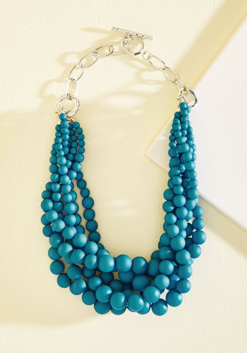 Burst Your Bauble Necklace in Lake - Blue, Work, Casual, Fall, Better, Metal, Plastic, Stocking Stuffers, Under 25 Gifts, Unique Gifts