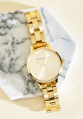 Teacup and Running Watch in Gold - Midi by Olivia Burton - Gold, Luxe, Gold, Menswear Inspired, Variation, Gals, Gifts2015, Store 2, Work, Statement, Luxe Gifts, Sparkly2015