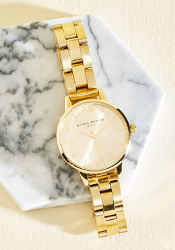 Teacup and Running Watch in Gold - Midi
