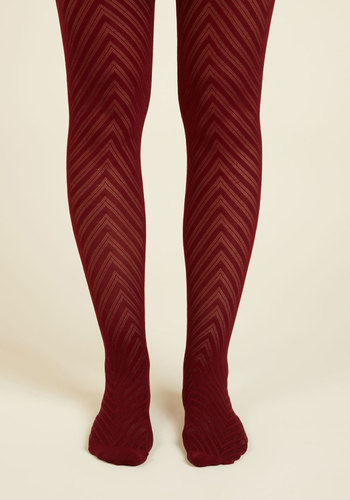 Fashionably Emulate Tights in Plum - Purple, Chevron, Boho, Urban, Darling, Festival, Fall, Winter, Knit, Party, Holiday Party, Work, Store 1
