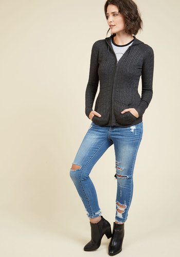Layer to Rely On Hoodie in Charcoal