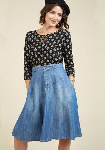 Bay Area of Expertise Midi Skirt