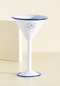 Drink In the Outdoors Martini Glass