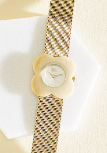 Blooming Fate Watch - Gold, Work, Luxe, Nature, Gold, Gals