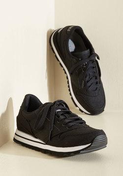 Glam on the Run Sneaker in Black