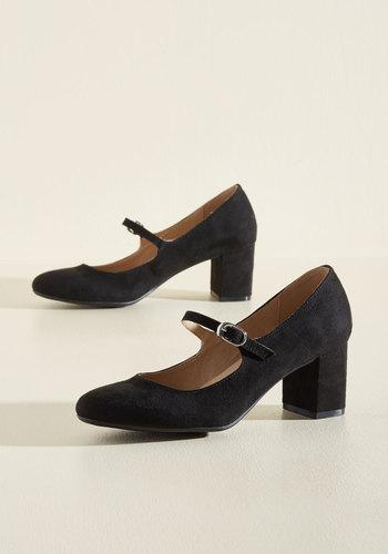 1920s Style Shoes Dance Floor Doubles Heel in Black $49.99 AT vintagedancer.com