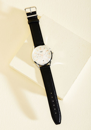Working Classic Men's Watch by Henry London - Black, Silver, Work, Luxe, Minimal, Silver