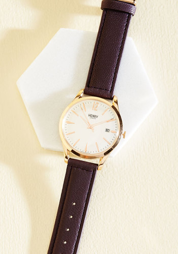 Timeless Trademark Watch by Henry London - Luxe Gifts, Purple, Work, Luxe, Gold, Menswear Inspired