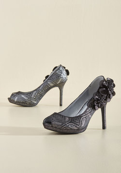 I'm Such a Fanfare of Yours Metallic Heel in Pewter