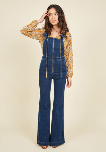 Gone in a Flashback Overalls $139.99 AT vintagedancer.com