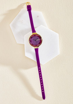 The Bevel Is in the Details Watch in Grape