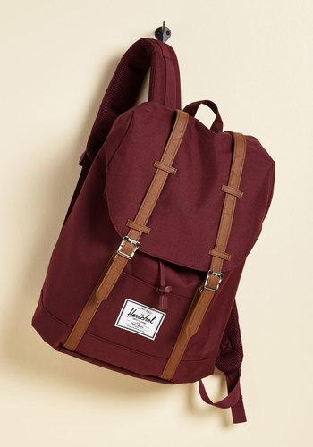Intrepid Trek Backpack in Burgundy by Herschel Supply Co. - Red, Work, Casual, Beach/Resort, Menswear Inspired, Vintage Inspired, Fall, Better, Saturated, Woven, Best Seller, Best Seller