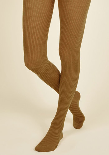 Homework Bound Tights in Amber - Yellow, Solid, Knitted, Work, Casual, Vintage Inspired, Fall, Winter, Best, Best Seller, Best Seller