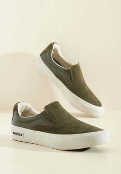 The Coast of Living Sneaker in Olive