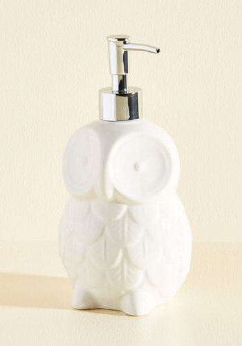 Sink About It Soap Dispenser - White, Owls, Minimal, Wedding, Hostess, Critters, Woodland Creature, Top Rated, Gifts2015, Halloween, Tis the Season Sale