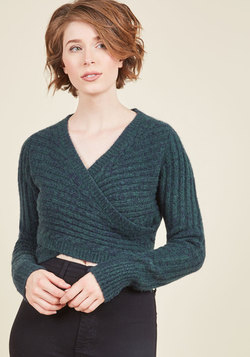 Wouldn't Knit Be Nice? Sweater in Teal