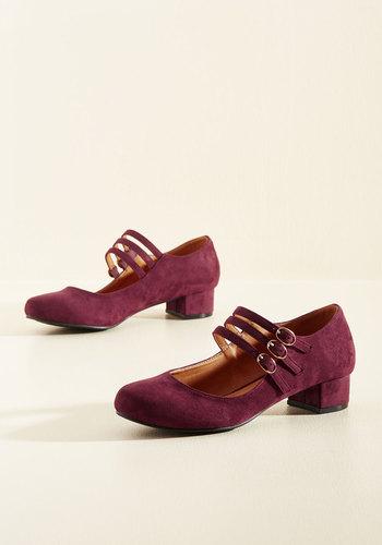 All Tapped Out Heel in Burgundy $49.99 AT vintagedancer.com