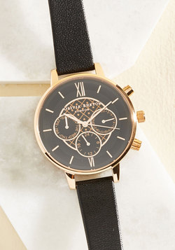 Key to Punctuality Watch in Black & Rose Gold