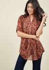 Back Road Ramble Cotton Tunic in Paisley
