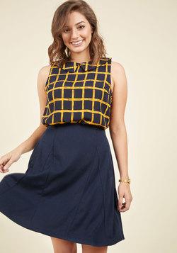 Panel Your Inner Energy A-Line Skirt