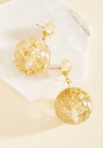 Sphere We Go Again Earrings - Work, Holiday, Holiday Party, Fall, Gold, Good, Best Seller, Best Seller, Under 50 Gifts, Under 25 Gifts, Sparkly2015, Store 1