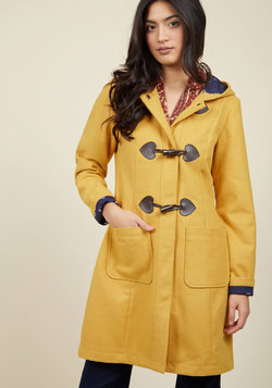Theater Greetings Coat in Saffron
