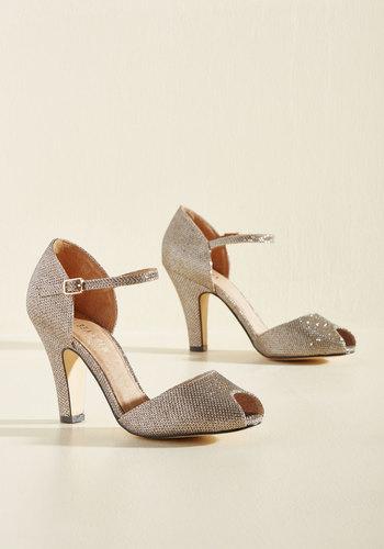 1940s Womens Shoe Styles Make Your Sparkle Heel $69.99 AT vintagedancer.com