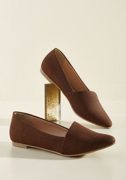 A Roll of the Diagonal Loafer in Cocoa