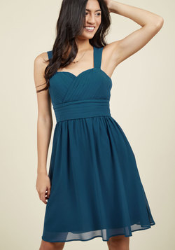 Blissful Vision A-Line Dress in Sapphire
