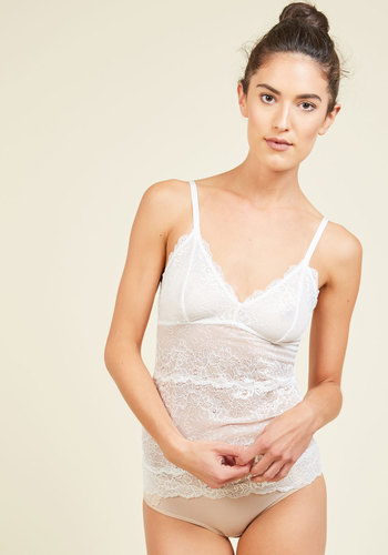 Daydream Journaling Camisole in Ivory - Cream, Solid, Lace, Special Occasion, Casual, Boudoir, Spring, Summer, Fall, Winter, Better, Exclusives, Private Label, Camisole, Tis the Season Sale