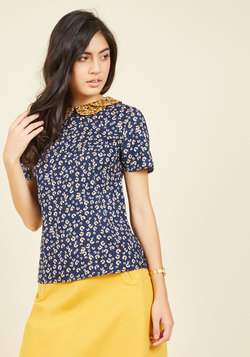 Workday Whimsy Floral Top