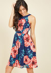 Day In and Date Out Dress in Navy Blossoms