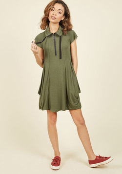Fresh Flow Dress in Olive