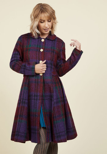1960s Fashion: What Did Women Wear? Bloomington Breeze Coat in Berry $179.99 AT vintagedancer.com