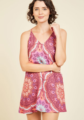 Thinking Out Lounge Nightgown by MINKPINK - Red, Print, Other Print, Casual, Better, Vintage Inspired, 60s, Woven