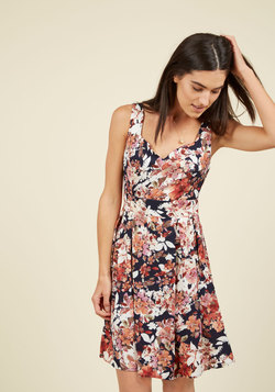 Sassed as You Can Dress in Harvest Floral