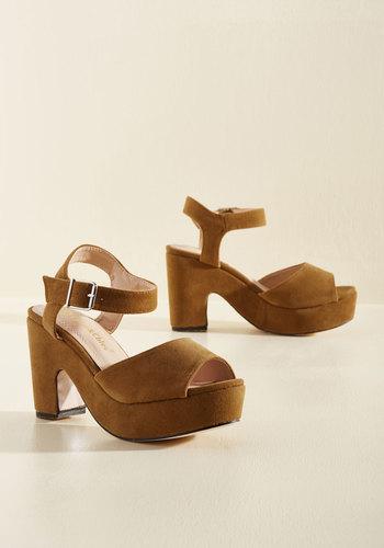 Shop Pin Up Shoes Sincerest Platform of Flattery Heel in Toffee $44.99 AT vintagedancer.com