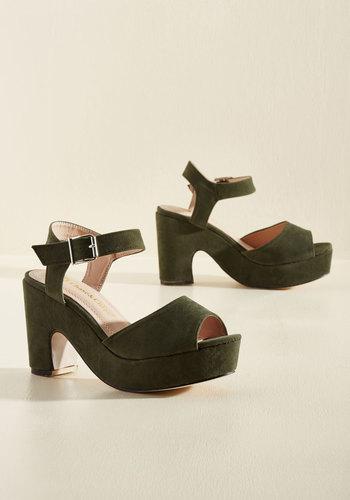 Sincerest Platform of Flattery Heel in Olive